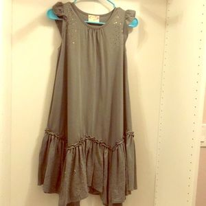 Other - Grey sparkle ruffled dress